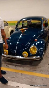 Fusca representando o Old Car Club