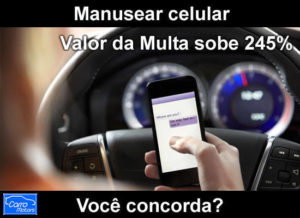Uso do celular no trânsito só se for estacionado